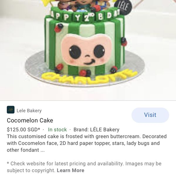 Not Selling Can Anyone Make Me A Cocomelon Cake For Friday ?
