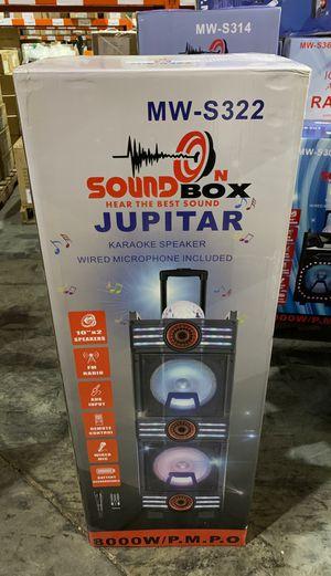 Soundbox Jupiter 8000 watt Karaoke Speaker Professional DJ Equipment 8000 Watts for Sale in Alpharetta, GA