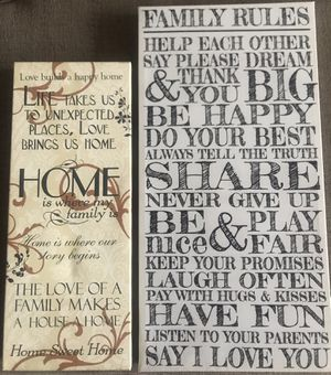 New Art • Wrapped Canvas Prints • Home Family Live Laugh Love for Sale in Arlington, VA