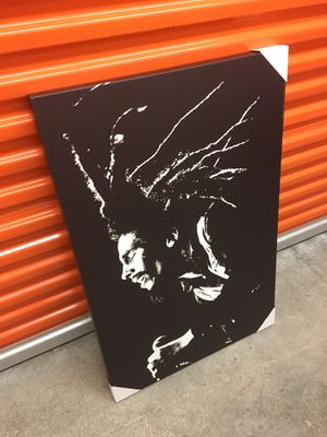 "'Bob Marley' (Black and White) Wall Art Canvas Decor (36""H x 24""W)(Brand New) for Sale in Coconut Creek, FL"