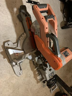 ridgid 10 in dual sliding miter saw for Sale in League City, TX