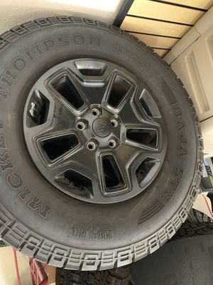 Black tires and rims x5 *negotiable* for Sale in LAUD BY SEA, FL