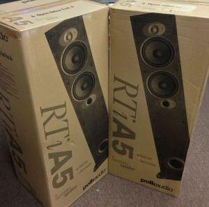 2 Polk Audio RTI A5 Black Floor-Standing Speakers for Sale in Philadelphia, PA