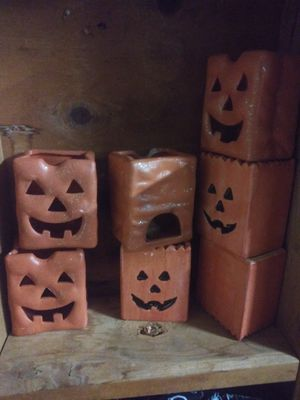 Set of 7 Jack O Lantern candle holders for Sale in Gaithersburg, MD