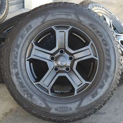 "17"" Jeep Wrangler Gladiator Rubicon Wheels Rims Rines And Tires Llantas for Sale in Huntington Beach,  CA"