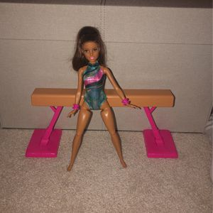 Gymnast Barbie with the Balanace Beam for Sale in New Brunswick, NJ
