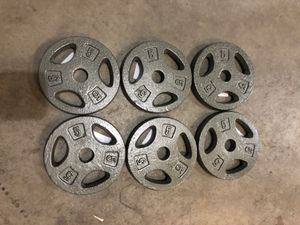 6 new standard 5lb weight plates (30lbs total) for Sale in Renton, WA
