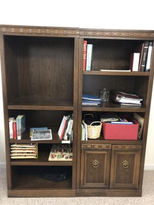 Two piece book shelve for Sale in Durham, NC