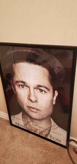 Brad pitt framed poster for Sale in Spring,  TX
