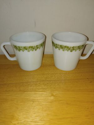 Pyrex Cups Milk Glass Coffee Daisey Mugs Flower for Sale in Lake Shore, MD