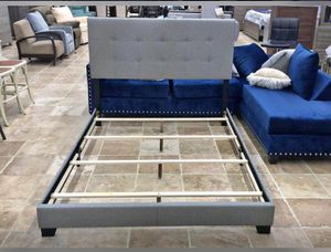 New Grey QUEEN Size Bed frame for Sale in Austin, TX