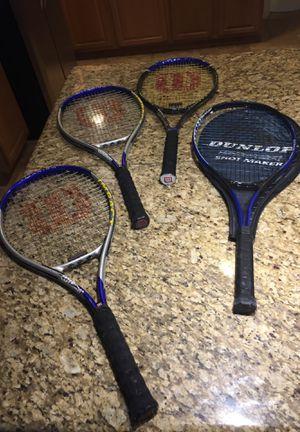 Tennis Rackets Wilson Dunlop $15 each or all for $40 for Sale in Phoenix, AZ