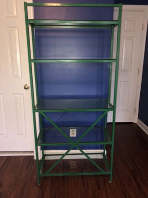 Glass and metal shelf for Sale in Chantilly, VA
