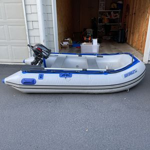 Inflatable Fishing Boat With Suzuki 2.5 Four Stroke Motor for Sale in Beaverton, OR
