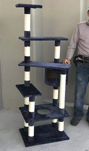 Brand new in box 5 feet tall cat tree house scratcher post cat tower condo scratching posts for Sale in Whittier, CA