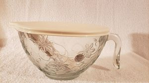 Princess House Fantasia Batter Bowl w/plastic lid for Sale in Palmyra, VA