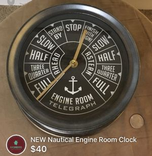 NEW Nautical Engine Room Clock for Sale in Washington, DC