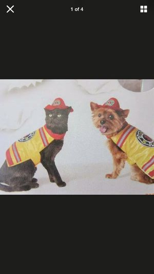 Fireman Pet Costume Size Small Dog Cat Halloween for Sale in Redondo Beach, CA