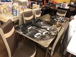 Dining table with chairs (( fast delivery))🚚 for Sale in Dallas, TX