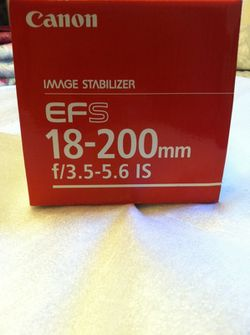 Canon camera lens brand new never used 18to 200 for Sale in Falls Church,  VA