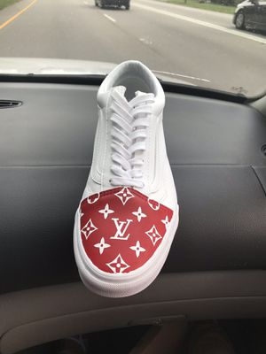 Old school (tumbled leathered) true white Louis Vuitton custom for Sale in Raleigh, NC