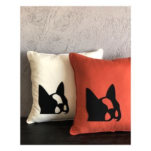 Linen Cotton Frenchie Throw pillow Covers set of 2 18x18 for Sale in Marina del Rey, CA