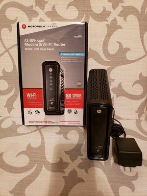 Motorola SURFboard Modem & Wi-Fi Router SBG6580 for Sale in Houston, TX