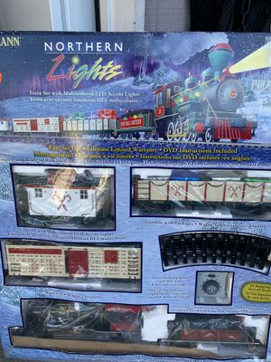 Bachmann Northern Lights G-Scale Xmas train set for Sale in Lakewood, WA
