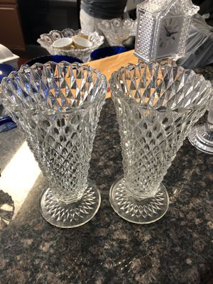 2 crystal vases for Sale in Plano, TX