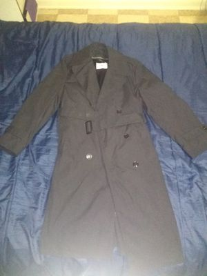 DSCP Army Trench Coat & Liner All Weather Mens Size 42R Black. Condition is Pre-owned for Sale in Silver Spring, MD