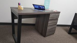 Office Computer Desk, Distressed Grey and Black, SKU 171968 for Sale in Santa Ana, CA
