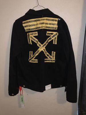 Off white black jean jacket for Sale in Houston, TX