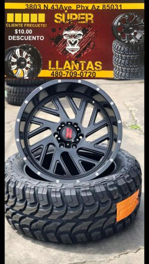 33 1250 22 RIMS AND TIRES for Sale in Phoenix, AZ