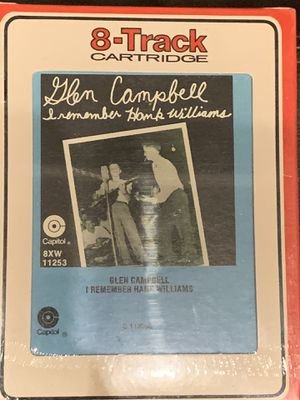 Glen Campbell - I Remember Hank Williams 8 Track Capitol SEALED for Sale in New Braunfels, TX