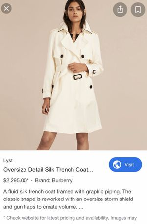 Burberry trench coat $400 Brand New!!! Worth more $2k for Sale in Pittsburg, CA