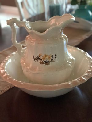 Antique large water pitcher and bowl for Sale in Marietta, GA