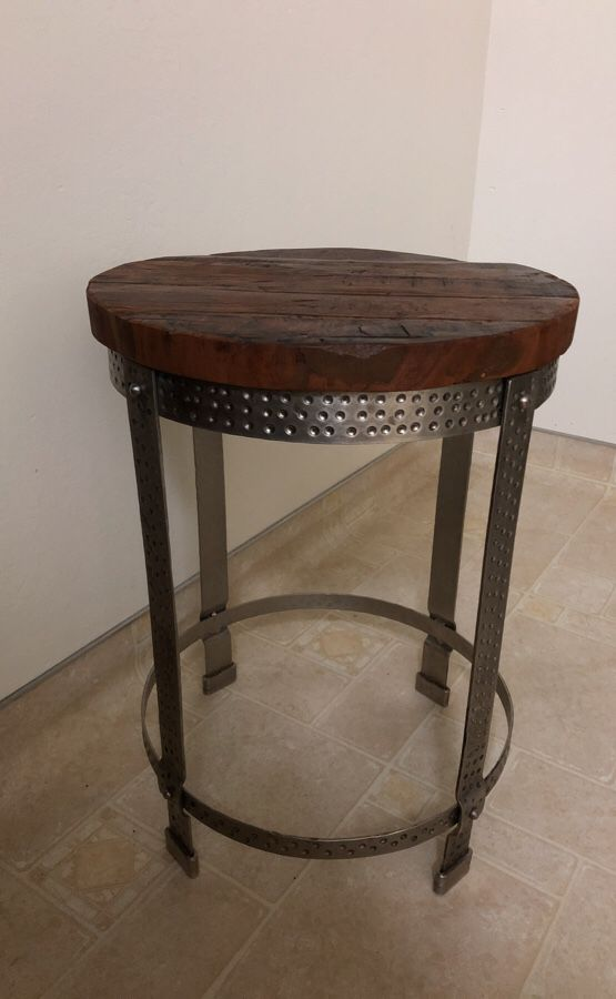 Industrial side table - brand new!