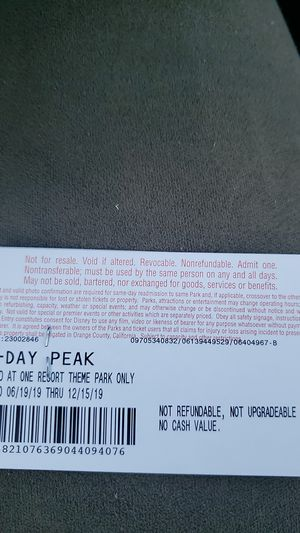 4pack disney tickets for Sale in Los Angeles, CA