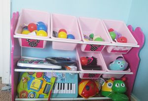 Toys with toy organizer for Sale in Gainesville, VA
