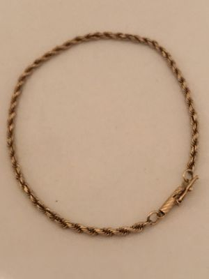 "Solid 14k 7"" rope bracelet for Sale in Denton, TX"