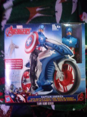 Avengers Captain America with battle cycle Titan hero series for Sale in Merchantville, NJ