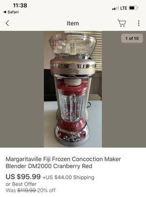 Margaritaville Fiji Frozen Concoction Maker Blender DM2000 Cranberry Red for Sale in Mesa, AZ