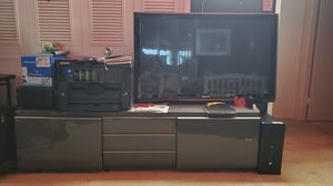 Large TV stand and 55Inch Panasonic TV for Sale in Falls Church, VA