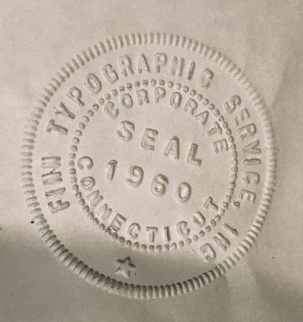 Vintage Make It Official Pocket Seal Hand Stamp Embosser