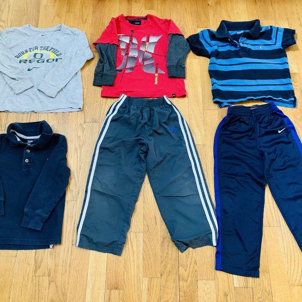 Boys Nike , Adidas Clothes 4 T BUNDLE 6 pieces, excellent clean condition Includes Hurley