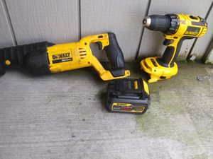 40 excellent condition saw sa and cordless power drill dewault 40 each with battery plus 10 or make me an offer for Sale in Tacoma, WA