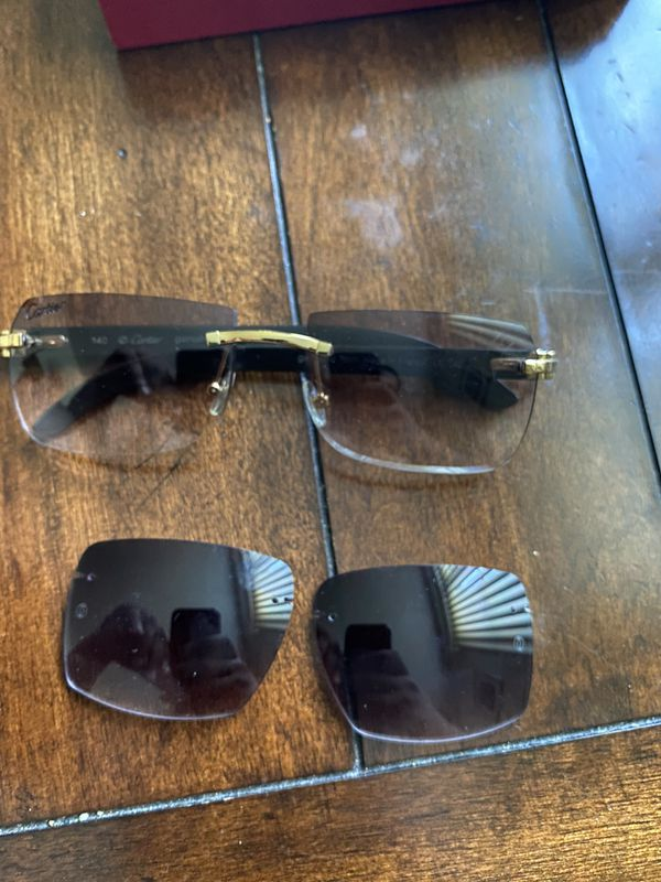 Black Buffalo Cartier Glasses 110% Authentic & Genuine Horn