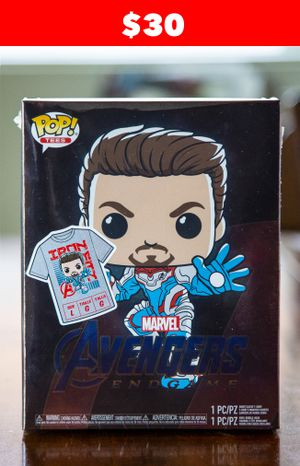 Funko Pop! & Tee Avengers Endgame Target Exclusive feat. GITD Iron Man - sz Large for Sale in Avondale, AZ