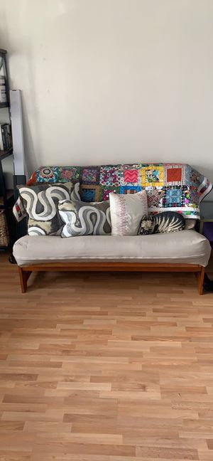 Full sized wood framed futon! for Sale in San Diego, CA