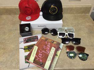 Yums hats/ sunglasses/ books/MacBook Pro for Sale in Dallas, TX